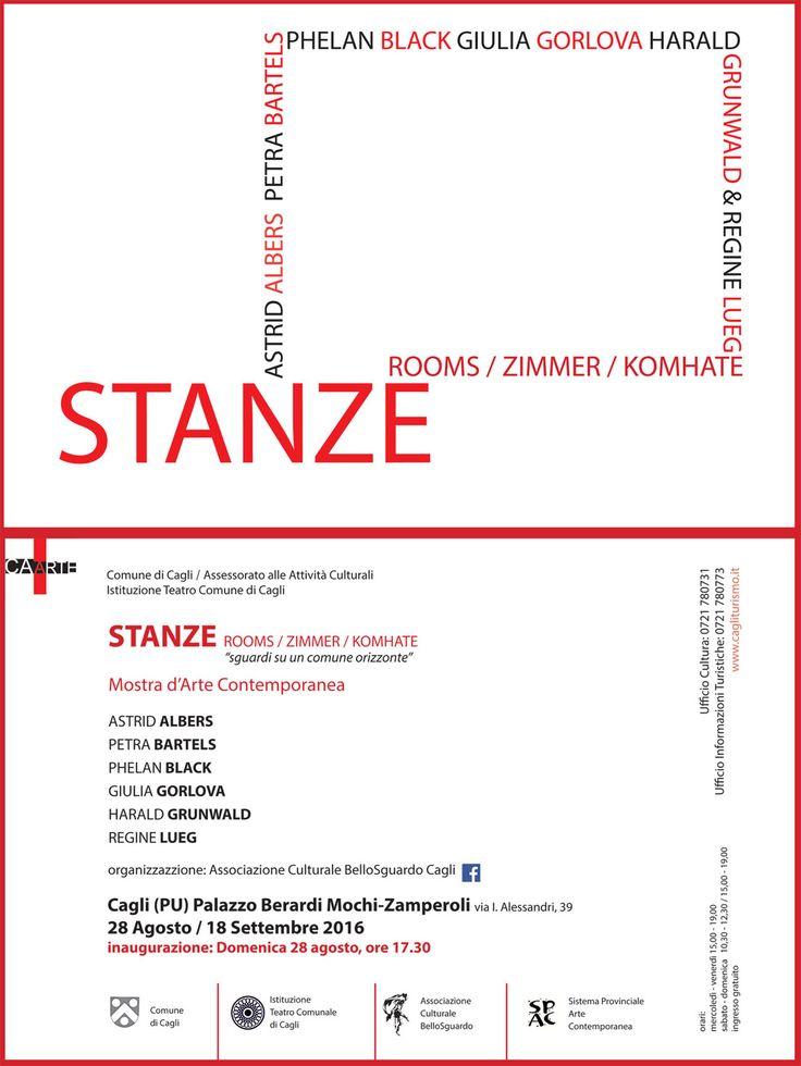 """Stanze / Rooms / Zimmer / Komhate """"Sguardi su un comune orizzonte"""", Mostra d'arte contemporanea  Stanze / Rooms / Zimmer / Komhate """"Sguardi su un comune orizzonte""""  Palazzo Berardi Mochi-Zamperoli - Cagli (PU) - da..."""