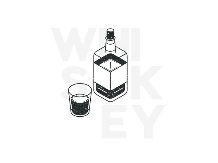 Whiskey illustration.