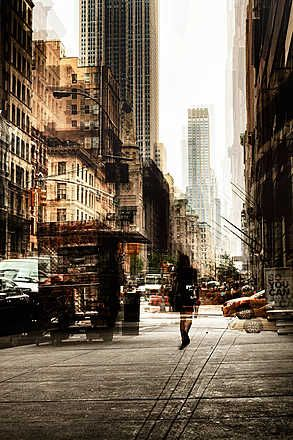 Rob Van Kessel, 5th Avenue Walk, 2013 / 2014 © www.lumas.com/ #Lumas -  #Architecture #Building #Buildings #Cities #City #Multiple #Exposure #Photography #street #Streets