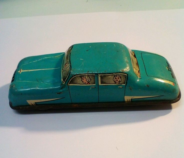Lovely Vintage Tin Plate Friction Toy car made in england | eBay