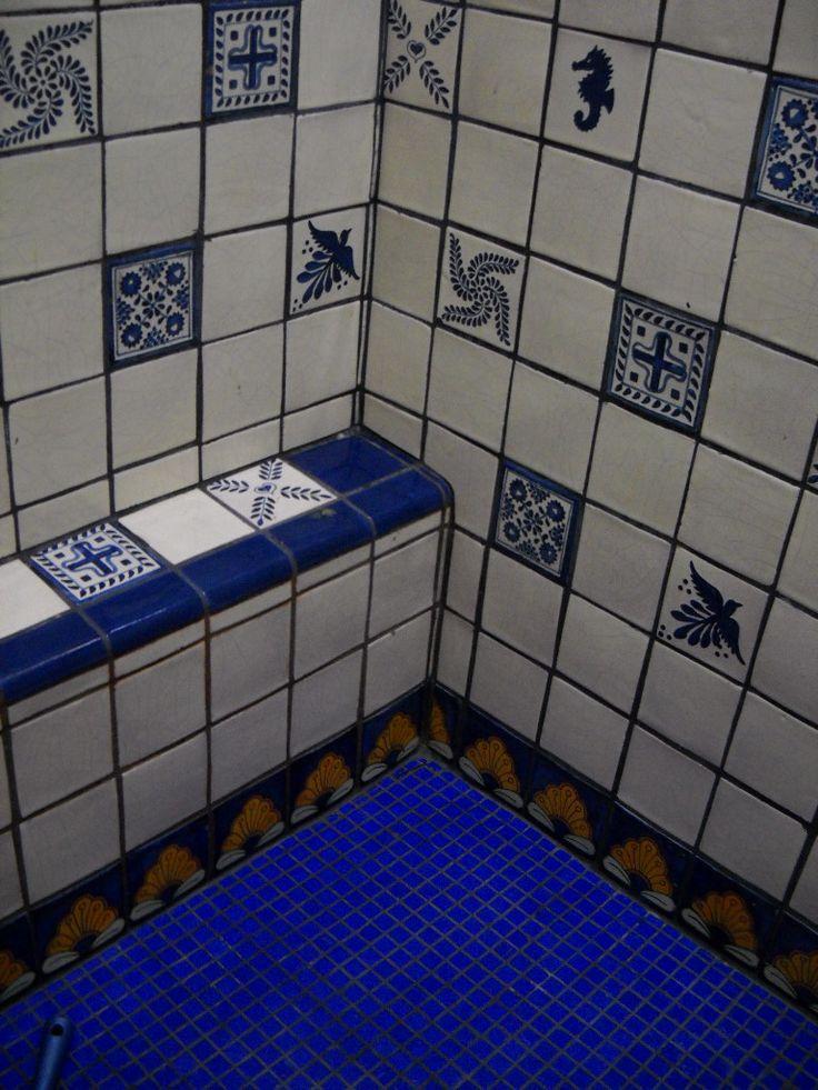56 best ideas about hispanic tiles bathroom on pinterest how to design tiles for bathrooms for Talavera tile bathroom designs
