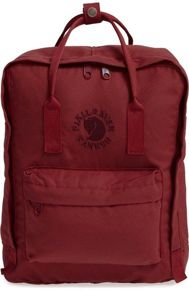 Fjällräven 'Re-Kånken' Water Resistant Backpack available at #Nordstrom (Ox Red or Pink Rose)