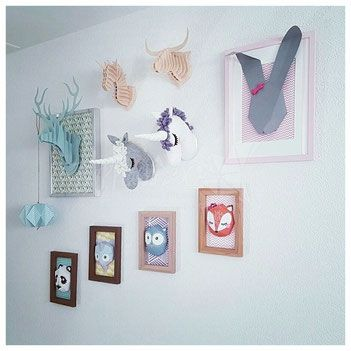 Trophées animaux tissu, bois et papier - Entreprise de décorations éco-responsables #happinessdco #ecoresponsable #trophéeanimaux #trophée #cygne #animaux #tissu #décoration #création #handmade #withlove #disponible #online #foryou #chambreenfant #chambrebébé #tissu #feutrine #couture #diy #swan #elephant #flamingo #unicorn #licorne #éléphant #flamantrose #cerf #lapin #renard #hiboux #panda #papier #bois
