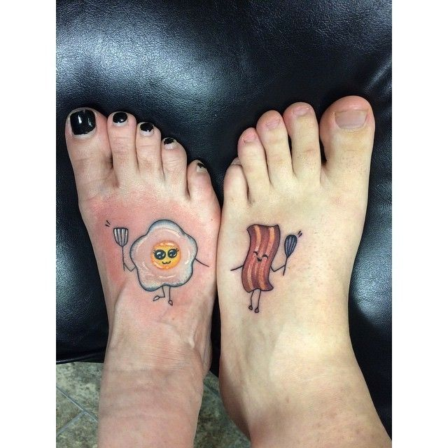 Eggs and bacon tattoo