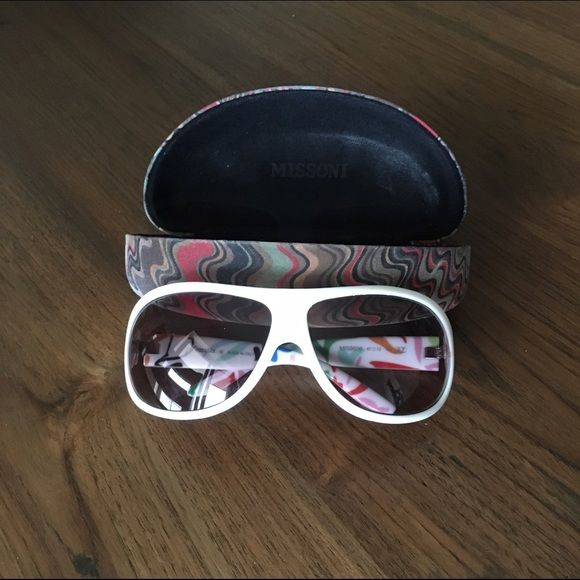 Missoni sunglasses Authentic Missoni sunglasses in original case. No flaws on the glasses but the case has some staining. Missoni Accessories Sunglasses