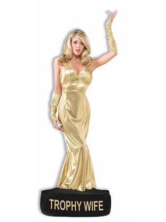 Trophy Wife Adult Costume | Wholesale Funny Halloween Costume for Women