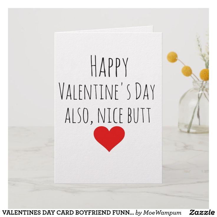 VALENTINES DAY CARD BOYFRIEND FUNNY FOR HIM   Zazzle.com