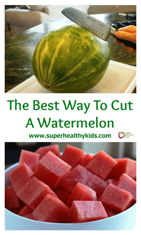 The Best Way to Cut a Watermelon. Hate the mess of cutting a watermelon? Try our method next time! http://www.superhealthykids.com/the-best-way-to-cut-a-watermelon/