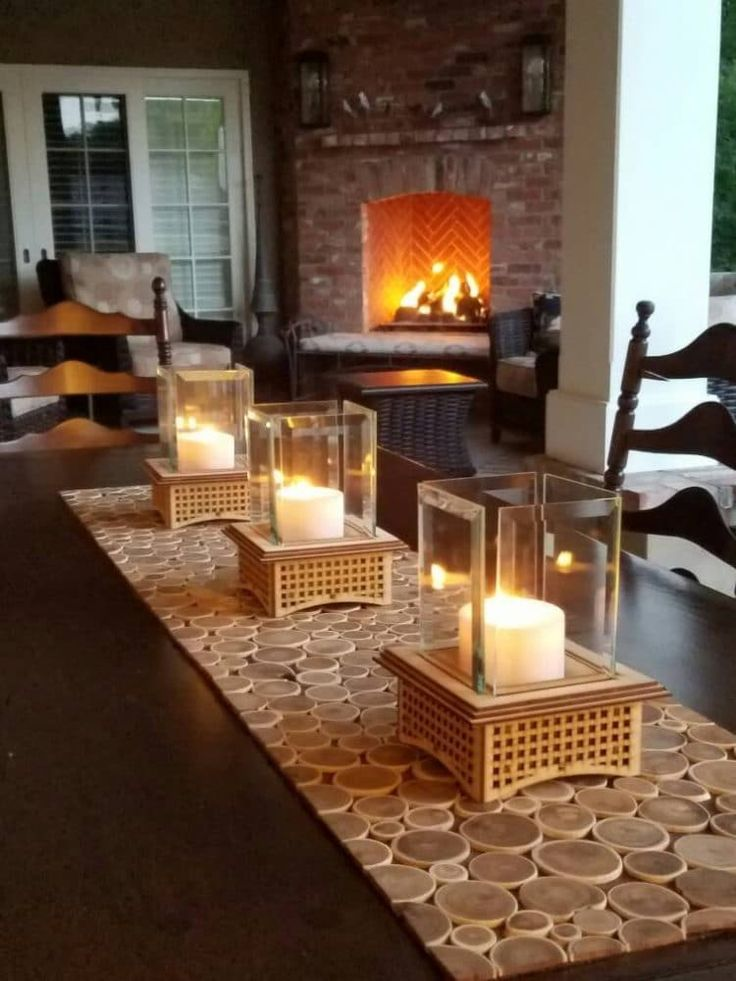 Perfect Heater for Winter! Tabletop Glass Fireplace Table Lamps