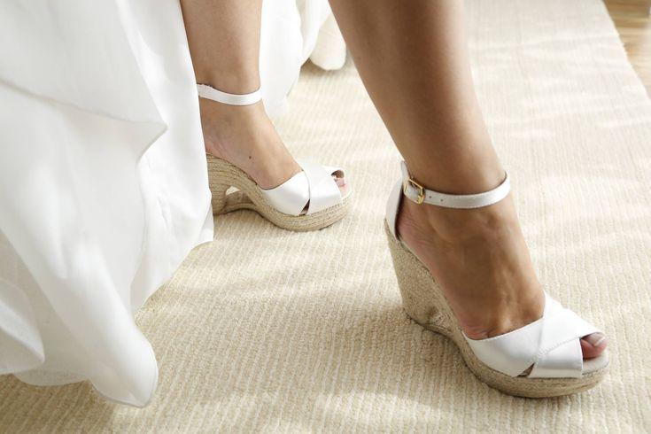Novia Bride Boda Wedding Alpargatas Espadrilles Cuñas Wedges CLOE
