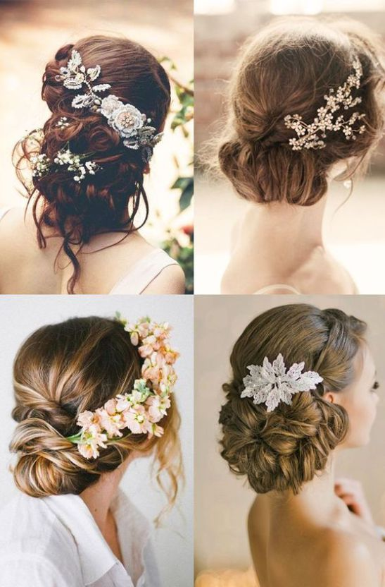 wedding hair with flowers