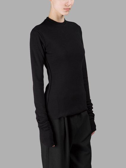 DAMIR DOMA DAMIR DOMA WOMEN'S BLACK LONG SLEEVES T-SHIRT. #damirdoma #cloth #t-shirts