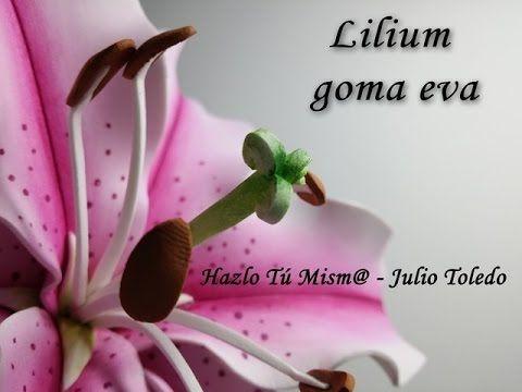 Lilium en goma eva