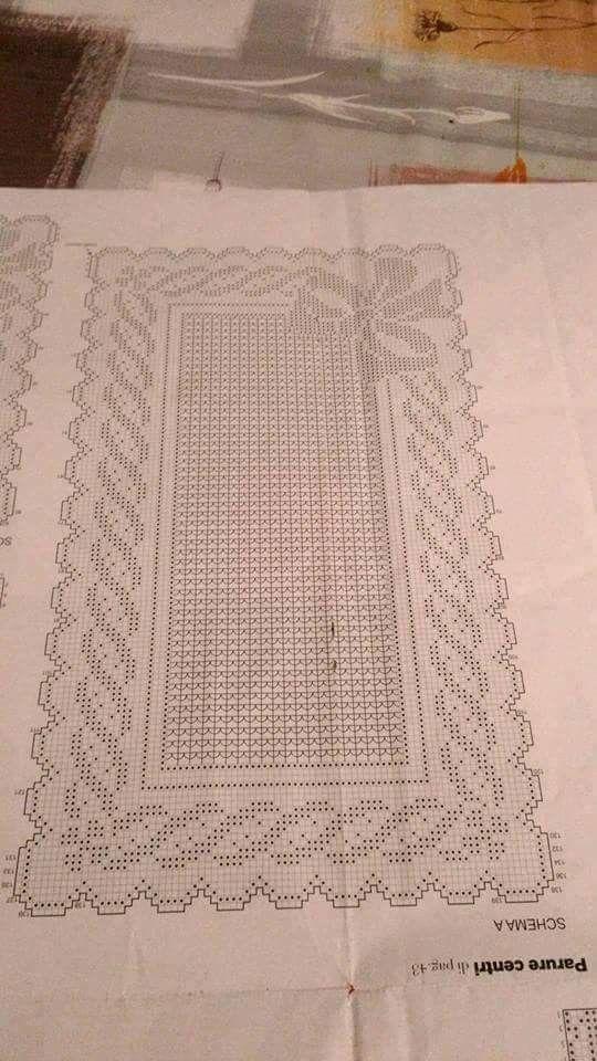 Crochet filet doily