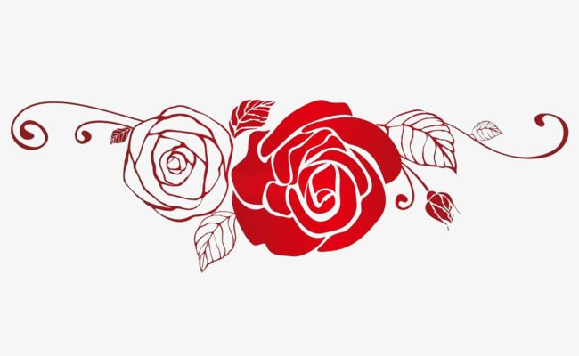 Red Rose Silhouette Rose Clipart Rose Art Love Decorations