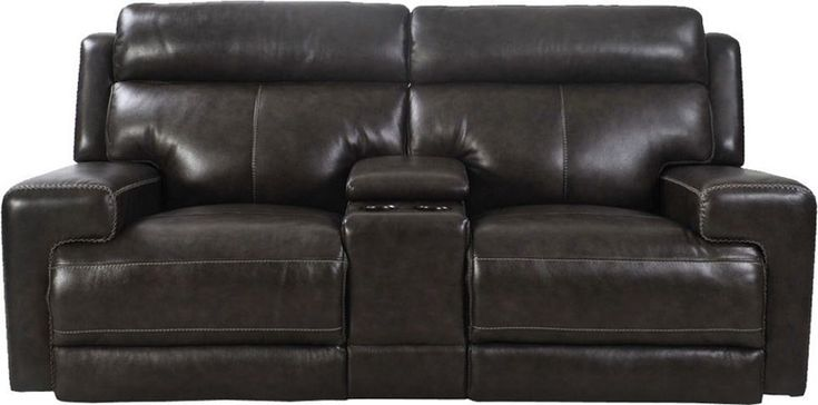 Parker Living - Glacier Graphite Entertainment Dual Power Reclining Loveseat with USB - MGLA#822CPH-GRA