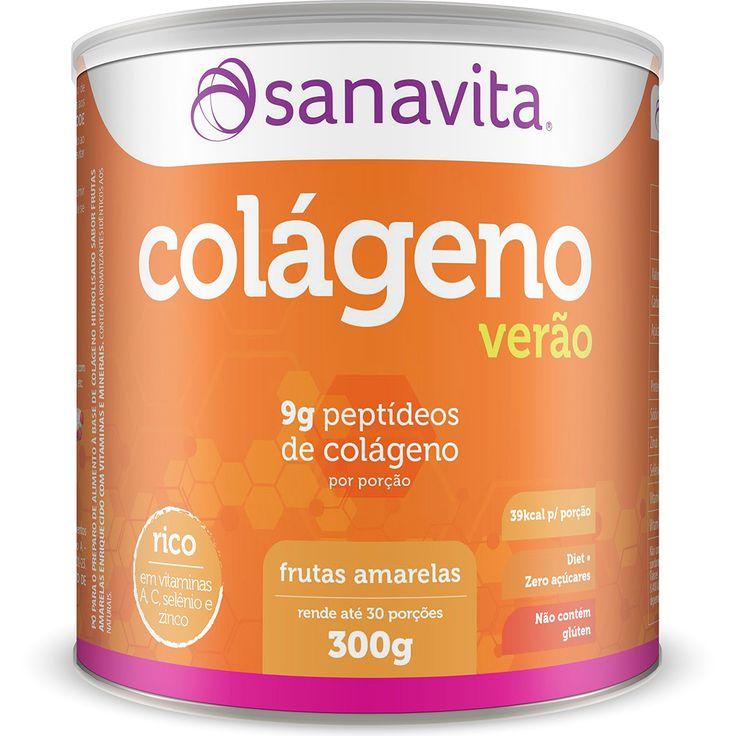 Colágeno 300 g - Sanavita Tangerina   Netshoes