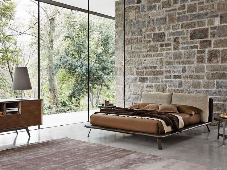 Upholstered leather double bed KAHANA | Double bed by Ditre Italia