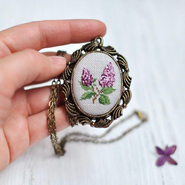 Живущая на Радугe: Любимая Сирень / Lilac Necklace