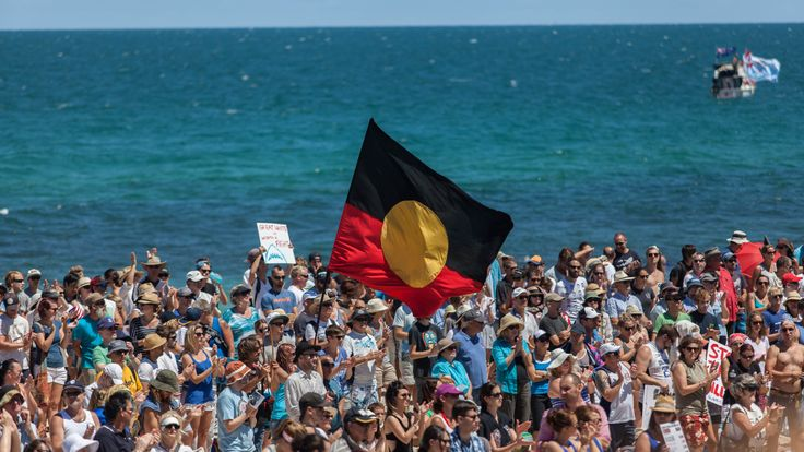 People from all walks of life stand united under one cause at the Cottesloe Shark Cull Protest. Photo by Simon Tubey #protest #volunteer #DoSomethingPhoto
