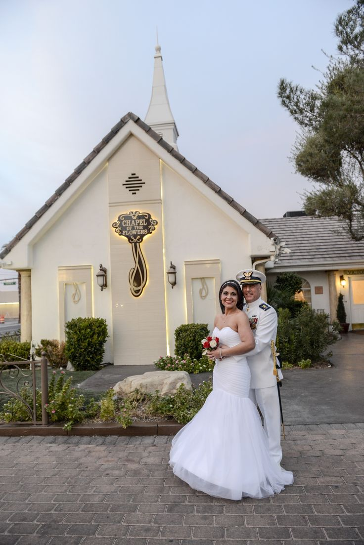 Military Weddings At Historic Chapel Of The Flowers Located On Las Vegas Strip All