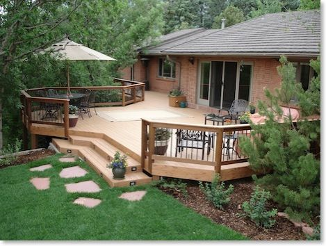 deck designs deck designs for large gardens - Deck With Patio Designs