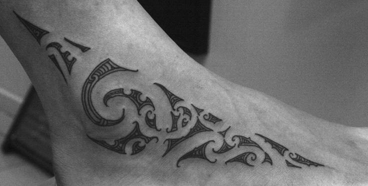 Maori-foot-tattoo