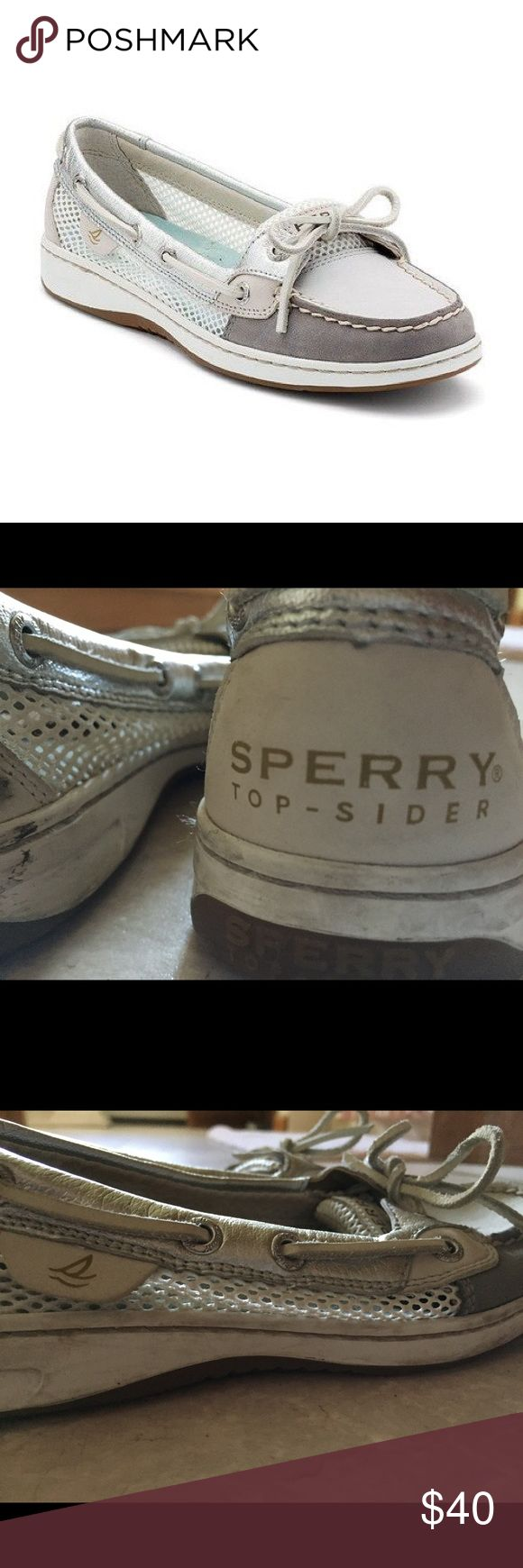 Women's Sperry Angelfish Grey with Open Mesh Gently worn, but still in great condition Sperry Top-Sider Shoes