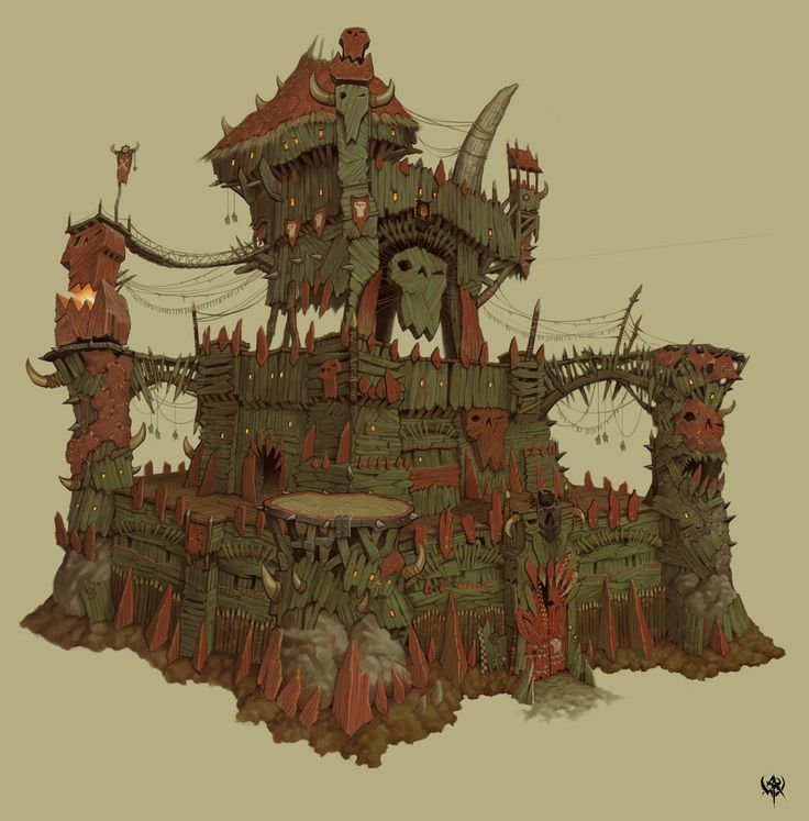 WAR Orc fortress concept art