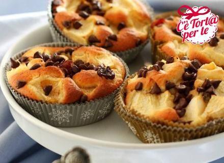 #Mele, che passione! Dei dolcetti squisiti e ottimi da gustare anche caldi: tortini Mela e cioccolato.