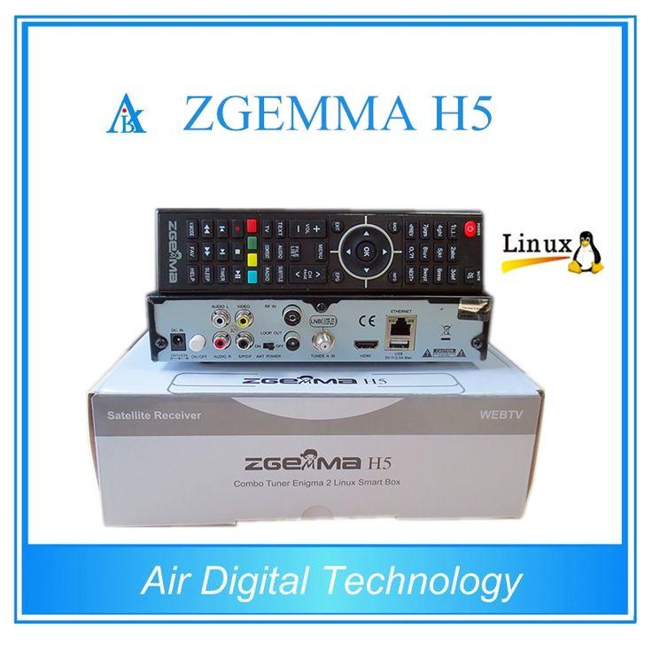 219.00$  Buy here - http://ali5l7.shopchina.info/1/go.php?t=1000001906294 - 2pcs/lot  New Model with BCM73625 Dual Core DVB-S2 + DVB-T2/C Hybrid tuner  ZGEMMA H5 H.265 HEVC Combo Receiver  #buyonlinewebsite