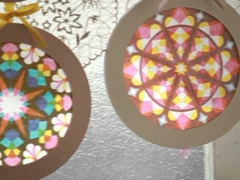 Kirigami window ornaments craft. Artist Asako Hirata