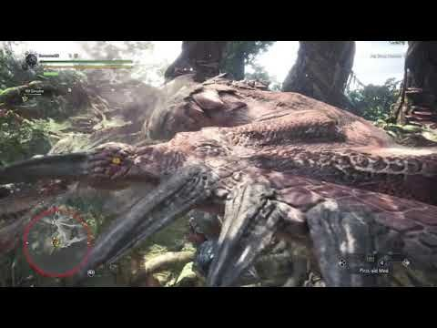 Monster hunter world: Ps4 Beta solo rathalos and jagaress with uncharged...