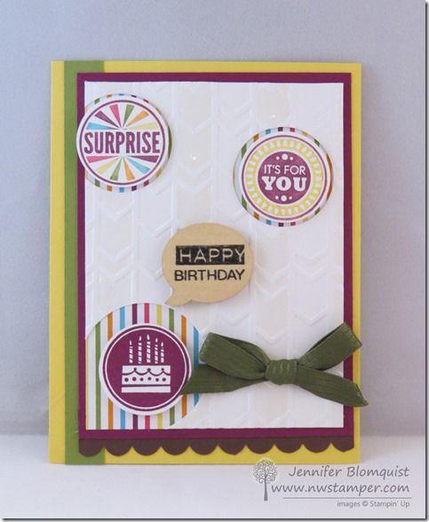 A Hodge-Podge Birthday Card with Amazing Birthday | Northwest Stamper