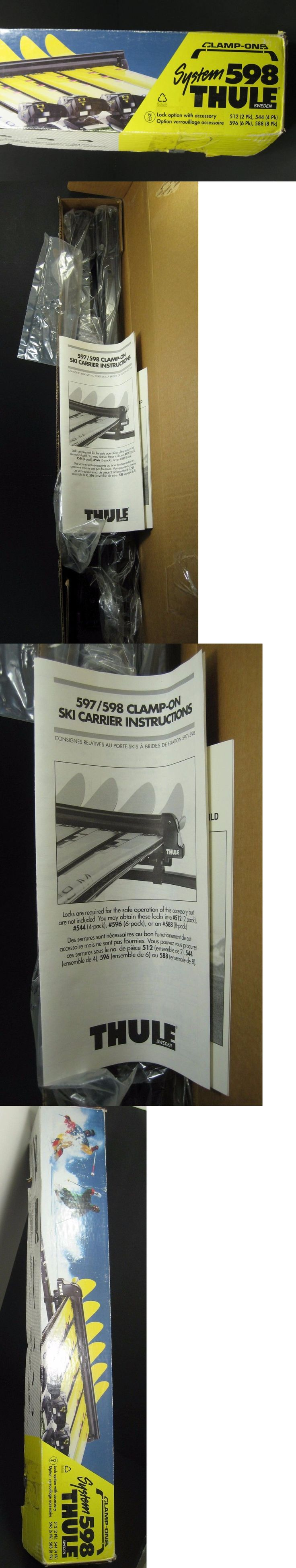 Racks and Carriers 21231: New Clamp-On Thule System 598 28 Ski Snowboard Carrier Car Roof Rack W Clamps -> BUY IT NOW ONLY: $59 on eBay!