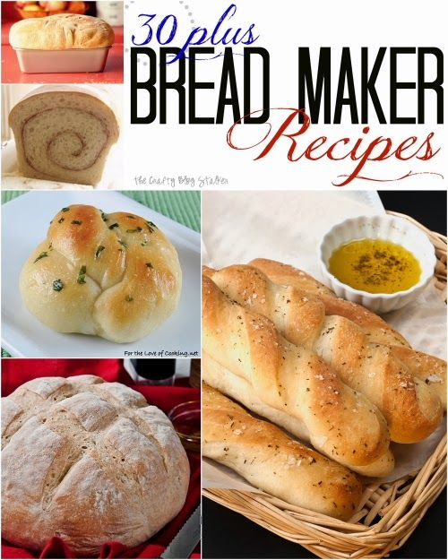 A collection of Bread Maker recipes to match any bread craving. Baking with a breadmaker is easy with these bread recipes.