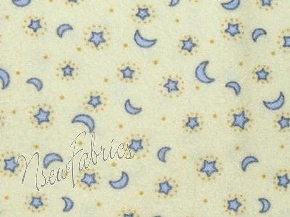 Mary engelbreit fabric baby fabric moon stars flannel for Moon and stars fabric