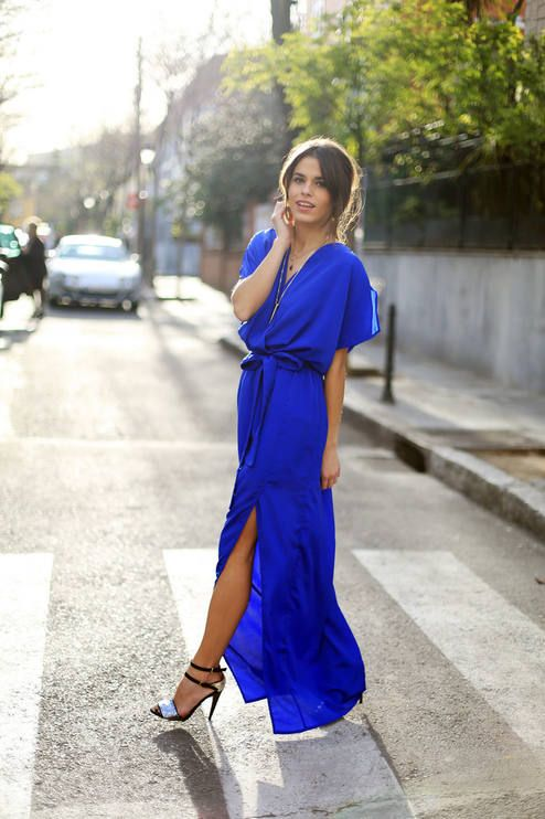 Jessie Chanes looks-Virgos Lounge Royal Blue Maxi Dress