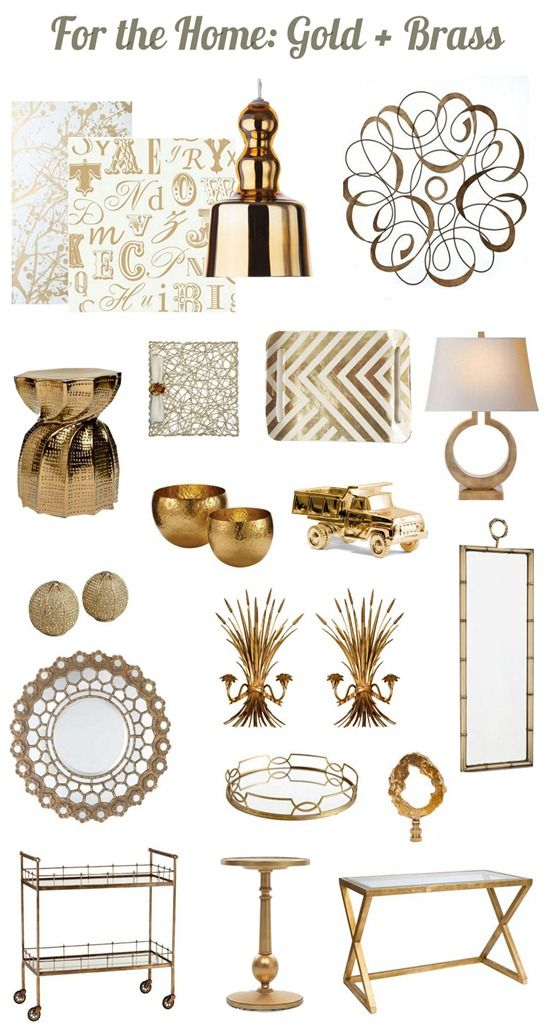 still hot brass gold - Home Decor Accents