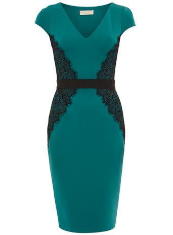 Dorothy Perkins green lace dress