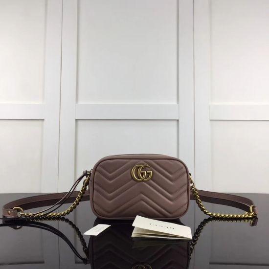 21714fede08 Gucci GG Marmont matelassé mini bag Chain 448065 | Gucci Women's ...