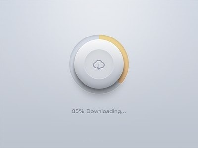 download, loading bar, feedback, diepte, icon, percentage, cloud