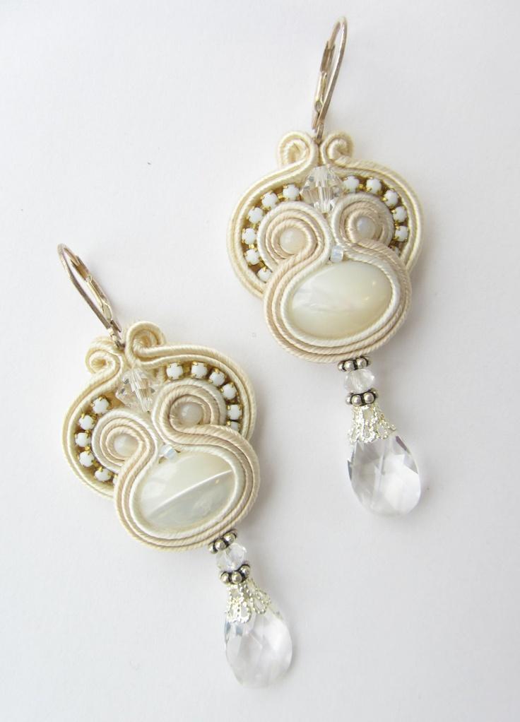 Soutache wedding earrings. $49.00, via Etsy.
