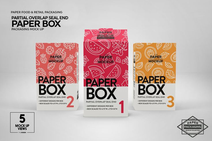 Download Paper Cereal Box Packaging Mockup By INC Design Studio ...