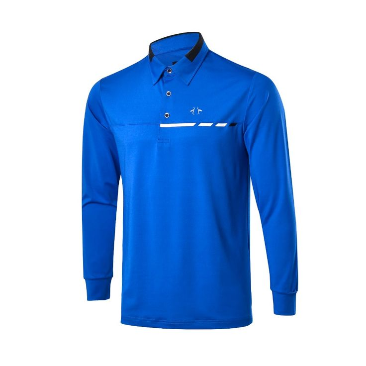 Golf shirts men brand Autumn Winter Polo Long Sleeves Men's Golf Clothes Cotton Golf T Shirts Colorful Strip Mens Golf Shirts(China (Mainland))