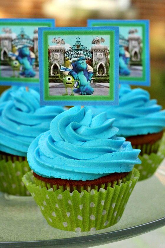 Monsters University printable cupcake topper