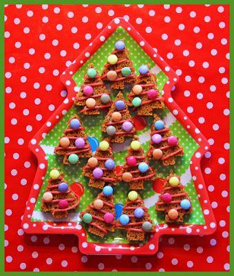 Fieve Kersthapjes ontbijtkoek uiteraard zonder de agressief makende smarties!
