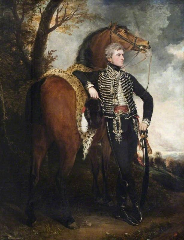 Sir Henry William (1768–1854), Lord Paget, Later 1st Marquess of Anglesey  by John Hoppner and Sawrey Gilpin       Date painted: 1798
