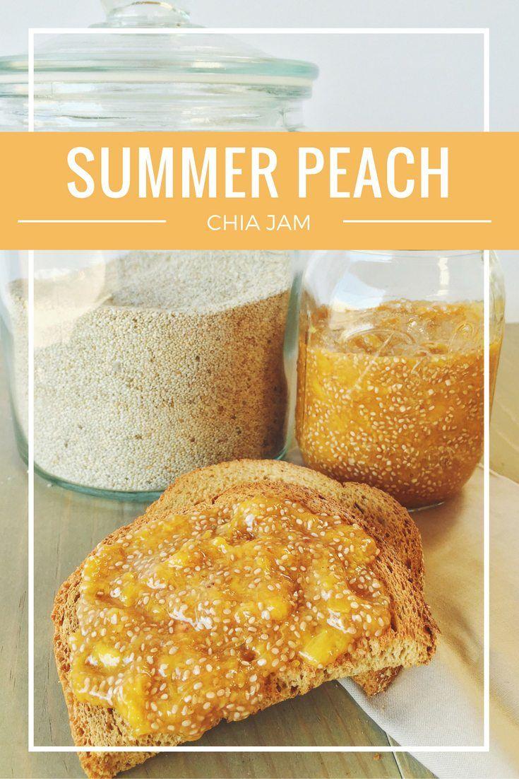 Summer Peach Chia Jam