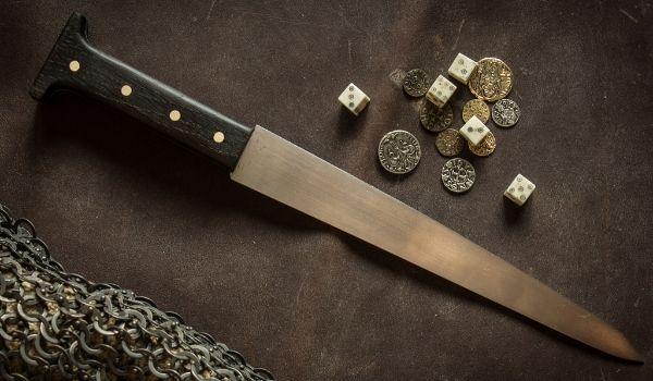 13rd century single egded dagger. Ilke, Hungary